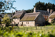 Hamptonne Country Life Museum, a historic farm, Heritage site and tourist attraction in the countryside of St Lawrence, Jersey, CI
