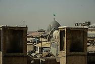 Iran. Tehran, the big mosque in the bazar, elevated view