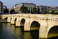 "The Pont Neuf (""New Bridge"") is the oldest standing bridge across the river Seine in Paris, France."