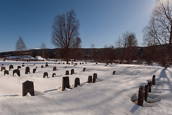 THEMENBILD - Friedhof in Duvedes, aufgenommen am Freitag, 16. März 2018. Die alpinen Ski- Weltmeisterschaften 2019 finden von 05. bis 17. Februar in Aare /Schweden statt // Cemetery in Duveds (Duveds Kyrka), pictured on Tuesday, March 13, 2018. The Alpine Skiing World Championships 2019 will take place from 05 to 17 February in Aare. Sweden on 2017/03/16. EXPA Pictures © 2018, PhotoCredit: EXPA/ Johann Groder