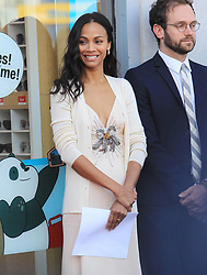 May 4, 2018 - Los Angeles, California, USA - 5/3/18.Zoe Saldana is honored with a Star Ceremony on The Hollywood Walk of Fame..(Los Angeles, CA) (Credit Image: © Starmax/Newscom via ZUMA Press)