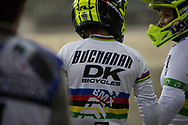#1 (BUCHANAN Caroline) AUS at the 2014 UCI BMX Supercross World Cup in Manchester.