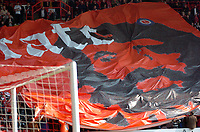 Photo: Tony Oudot.<br />Charlton Athletic v Wigan Athletic. The Barclays Premiership. 31/03/2007.<br />A che guevara flag is lofted around the stadium in praise of ex Charlton man Derek Hales