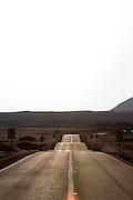 Road near Bahia Inglesa, Atacama desert.