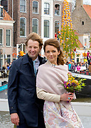 De koninklijke familie is in Zwolle voor de viering van Koningsdag. /// The royal family is in Zwolle for the celebration of King's Day.<br /> <br /> Op de foto / On the photo:   Prins Floris en Prinses Aimée