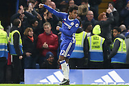 Willian of Chelsea celebrates scoring his sides 2nd goal. Premier league match, Chelsea v Stoke city at Stamford Bridge in London on Saturday 31st December 2016.<br /> pic by John Patrick Fletcher, Andrew Orchard sports photography.