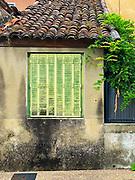 Green metal shutter