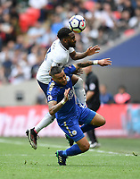Football - 2017 / 2018 Premier League - Tottenham Hotspur vs. Leicester City<br /> <br /> Tottenham Hotspur's Danny Rose battles with Leicester City's Danny Simpson, at Wembley Stadium.<br /> <br /> COLORSPORT/ASHLEY WESTERN