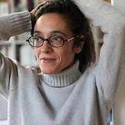 """Paris, France, November 7, 2019. Michela Marzano, Italian writer, philopsher, politician, and essayist. Michela Marzano lives in Paris where is full professor at the Université Paris Descartes (SHS Sorbonne) and is director of the Department of Social Sciences (SHS, Paris Cité Sorbonne, Université Paris Descartes). <br />Michela Marzano won the 62nd edition of the Bancarella Award in July 2014 with the book """"L'amore è tutto: è tutto ciò che so dell'amore"""" (Utet, 2013). His last novel, """"Idda"""" (2019) is published in Italy by Einaudi.<br /><br />Parigi, Francia, 7 Novembre 2019. Michela Marzano, scrittrice, filosofa, accademica, politica e saggista italiana. Michela Marzano vive a Parigi, insegna all'Université Paris Descartes (SHS Sorbonne) ed è e direttrice del Dipartimento di Scienze sociali (SHS, Paris Cité Sorbonne, Université Paris Descartes). Michela Marzano ha vinto nel luglio 2014 la 62/a edizione del Premio Bancarella con il libro """"L'amore è tutto: è tutto ciò che so dell'amore"""" (Utet, 2013). Il suo ulitmo romanzo, """"Idda"""" (2019) è pubblicato in Italia da Einaudi."""
