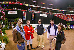 Philippaerts Ludo, BEL, Harrie Theeuwes, Axel Verlooy, Lucien Somers<br /> World Cup Final Jumping - Las Vegas 2003<br /> © Hippo Foto - Dirk Caremans
