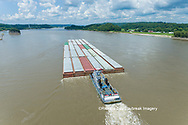 63807-01314 Barge on the Mississippi river near Tower Rock Grand Tower, IL