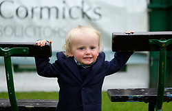 © Licensed to London News Pictures.14/07/15<br /> Harrogate, UK. <br /> <br /> FREDDIE CAMPBELL, 2, from Harrogate listens to some of the live music whilst visiting on the opening day of the Great Yorkshire Show.  <br /> <br /> England's premier agricultural show opened it's gates today for the start of three days of showcasing the best in British farming and the countryside.<br /> <br /> The event, which attracts over 130,000 visitors each year displays the cream of the country's livestock and offers numerous displays and events giving the chance for visitors to see many different countryside activities.<br /> <br /> Photo credit : Ian Forsyth/LNP