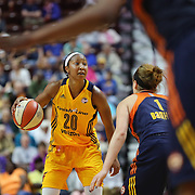 UNCASVILLE, CONNECTICUT- JUNE 5:   Briann January #20 of the Indiana Fever in action during the Indiana Fever Vs Connecticut Sun, WNBA regular season game at Mohegan Sun Arena on June 3, 2016 in Uncasville, Connecticut. (Photo by Tim Clayton/Corbis via Getty Images)