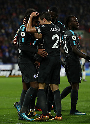 Chelsea's Willian (left) celebrates scoring his side's second goal of the game with teammate Cesar Azpilicueta
