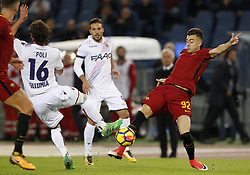 October 28, 2017 - Rome, Italy - Roma s Stephan El Shaarawy, right, is challenged by Bologna s Andrea Poli during the Serie A soccer match between Roma and Bologna at the Olympic stadium. (Credit Image: © Riccardo De Luca/Pacific Press via ZUMA Wire)