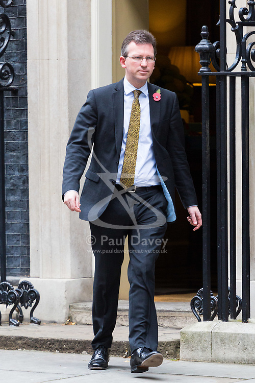 London, October 31 2017. Attorney General Jeremy Wright leaves the weekly UK cabinet meeting at Downing Street. © Paul Davey