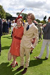 29 July 2021 - The QATAR Goodwood Festival Ladies Day at Goodwood Racecourse, West Sussex.<br /> Picture Shows - Lord Freddie Gordon-Lennox and Giorgina Bolza.<br /> <br /> NON EXCLUSIVE - WORLD RIGHTS