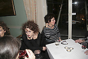 HELENA BONHAM-CARTER AND RUBY WAX, PARTY AT DARTMOUTH HOUSE AFTER A PREMIERE SCREENING OF PERFUME AT THE CURZON. LONDON.<br />5 December 2006. ONE TIME USE ONLY - DO NOT ARCHIVE  © Copyright Photograph by Dafydd Jones 248 CLAPHAM PARK RD. LONDON SW90PZ.  Tel 020 7733 0108 www.dafjones.com