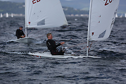 Day 4 NeilPryde Laser National Championships 2014 held at Largs Sailing Club, Scotland from the 10th-17th August.<br /> <br />  203971, Dougie POWER<br /> <br /> Image Credit Marc Turner