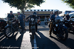 Motorcycle Cannonball coast to coast vintage run. Stage-4 (273 miles) from Jamestown, NY to Bowling Green, OH. Tuesday September 11, 2018. Photography ©2018 Michael Lichter.