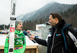 Domen Prevc (SLO) interviewed by Damjan Medica of Planet TV after the Ski Flying Hill Men's Individual Competition at Day 4 of FIS Ski Jumping World Cup Final 2017, on March 26, 2017 in Planica, Slovenia. Photo by Vid Ponikvar / Sportida