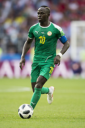 June 19, 2018 - Moscow - Mbaye Mane of Senegal in action during the 2018 FIFA World Cup Group H match between Poland and Senegal at Spartak Stadium in Moscow, Russia on June 19, 2018  (Credit Image: © Andrew Surma/NurPhoto via ZUMA Press)