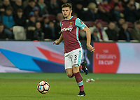 Football - 2016 / 2017 FA Cup - Third Round: West Ham United vs. Manchester City <br /> <br /> Aaron Cresswell of West Ham at The London Stadium.<br /> <br /> COLORSPORT/DANIEL BEARHAM