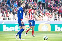 Atletico de Madrid Diego Costa and Athletic Club Arrizabalaga during La Liga match between Atletico de Madrid and Athletic Club and Wanda Metropolitano in Madrid , Spain. February 18, 2018. (ALTERPHOTOS/Borja B.Hojas)