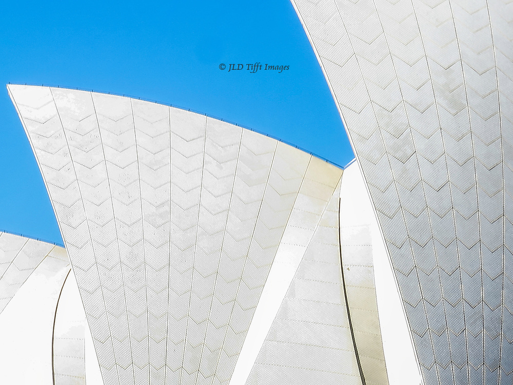 Abstract white formations curving above