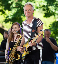 Sting and Shaggy on Good Morning America Concert Series Central Park, NY. 25 May 2018 Pictured: Sting. Photo credit: RCF / MEGA TheMegaAgency.com +1 888 505 6342