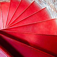 Interior circular staircase of Owls Head Light, Owls Head Maine.