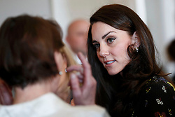 The Duchess of Cambridge talks with marathon participants at the Institute of Contemporary Arts in central London where she outlined the next phase of the mental health Heads Together campaign.
