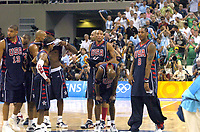 27/08/04 - ATHENS  - GREECE -  - BASKETBALL SEMIFINAL MATCH   - Indoor Olympic Stadium - <br />ARGENTINA win (89) over USA United States of America (81) <br />USA team after loss the match.<br />© Gabriel Piko / Argenpress.com / Piko-Press