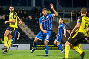 Rekeil Pyke of Rochdale (11) during the EFL Sky Bet League 1 match between Burton Albion and Rochdale at the Pirelli Stadium, Burton upon Trent, England on 21 December 2019.