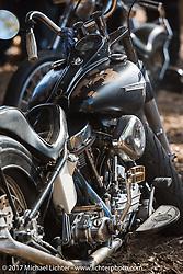 Custom Harley-Davidson Panhead in the Cycle Source Magazine show at the Broken Spoke Saloon during Daytona Beach Bike Week. FL. USA. Tuesday, March 14, 2017. Photography ©2017 Michael Lichter.
