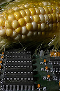 Photo illustration of how technology is making ethanol easier to produce....Photo stock for Ethanol in the Midwest. Photo by Chris Machian