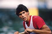 Bled, Slovenia, YUGOSLAVIA. GBR M8+, Richard PHELPS, 1989 World Rowing Championships, Lake Bled. [Mandatory Credit. Peter Spurrier/Intersport Images]