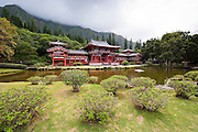 Nestled in front of the Ko'olau Mountains sits the Byodo-In Temple.