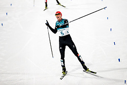 PYEONGCHANG-GUN, SOUTH KOREA - FEBRUARY 14:  Eric Frenzel of Germany to win the gold medal in the Nordic Combined Individual Gundersen Normal Hill and 10km Cross Country on day five of the PyeongChang 2018 Winter Olympics at Alpensia Cross-Country Centre on February 14, 2018 in Pyeongchang-gun, South Korea.  Photo by Kim Jong-man / Sportida