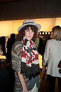 VERITY PEMBERTON, Vogue: Fashion's Night Out: Armani. Bond st.  London. 8 September 2010.  -DO NOT ARCHIVE-© Copyright Photograph by Dafydd Jones. 248 Clapham Rd. London SW9 0PZ. Tel 0207 820 0771. www.dafjones.com.
