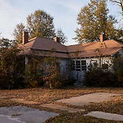 DENMARK, SOUTH CAROLINA - JANUARY 22: An abondoned home in disrepair is seen from the street a few blocks away form the AMTRAK station in Denmark, SC on January 22, 2020. The town is hoping to use Clyburn's 10-20-30 program to make necessary upgrades to their water system.(Photo by Logan CyrusforThe Washington Post)