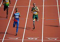 Olympics - London 2012 - Athletics<br /> Oscar Pistorius (RSA) qualifies in his heat of the Men's 400m at the Olympic Stadium, London