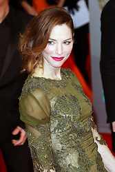 © London News Pictures. Sienna Guillory, EE British Academy Film Awards (BAFTAs), Royal Opera House Covent Garden, London UK, 08 February 2015, Photo by Richard Goldschmidt /LNP