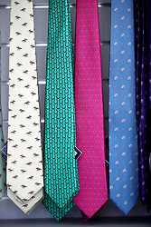 Novelty horse themed ties during day five of Royal Ascot at Ascot Racecourse.