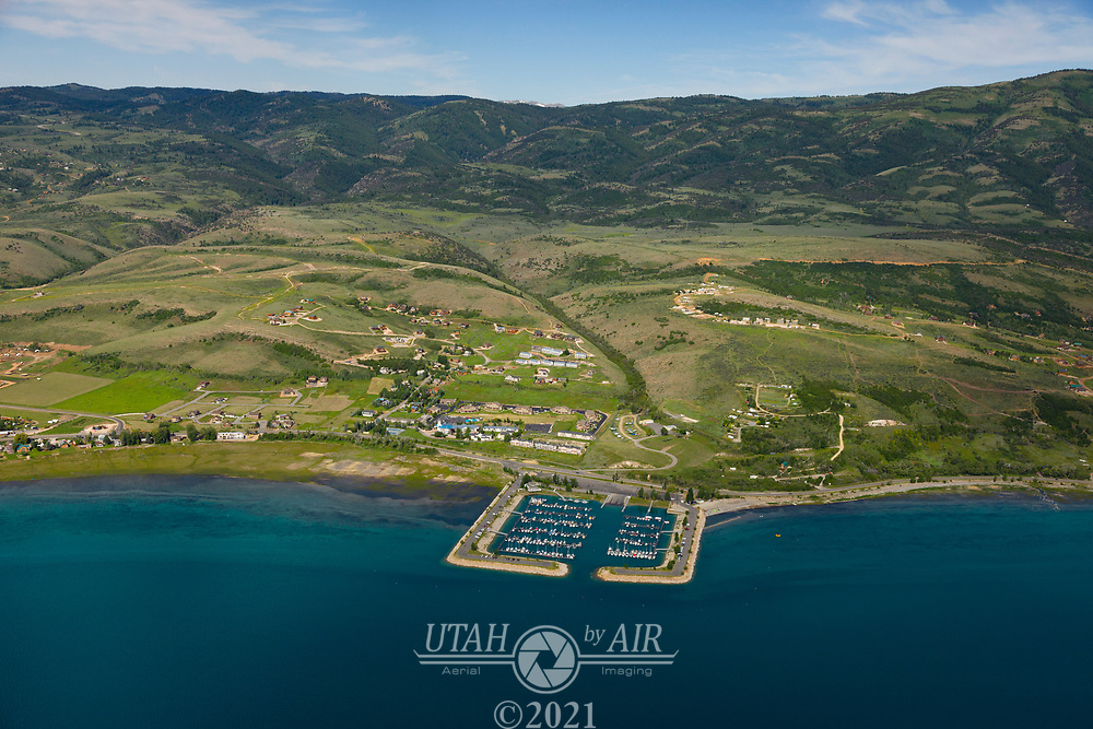 Bear Lake is on the border of Idaho and Utah, and is a recreation destination all year long.