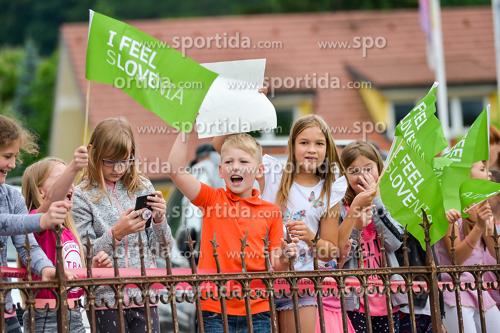 Young fans during 3rd Stage of 25th Tour de Slovenie 2018 cycling race between Slovenske Konjice and Celje (175,7 km), on June 15,2018 in Slovenia. Photo by Mario Horvat / Sportida