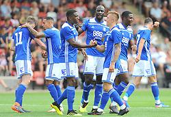 Charlie Lakin of Birmingham City celebrates his goal after  making it 0-1 - Mandatory by-line: Nizaam Jones/JMP - 21/07/2018 - FOOTBALL - Jonny-Rocks Stadium - Cheltenham, England - Cheltenham Town v Birmingham City - Pre-season friendly