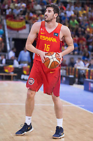 Spain's Guillem Vives during friendly match for the preparation for Eurobasket 2017 between Spain and Venezuela at Madrid Arena in Madrid, Spain August 15, 2017. (ALTERPHOTOS/Borja B.Hojas)