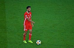 CARDIFF, WALES - Friday, September 6, 2019: Wales' Neil Taylor during the UEFA Euro 2020 Qualifying Group E match between Wales and Azerbaijan at the Cardiff City Stadium. (Pic by Paul Greenwood/Propaganda)