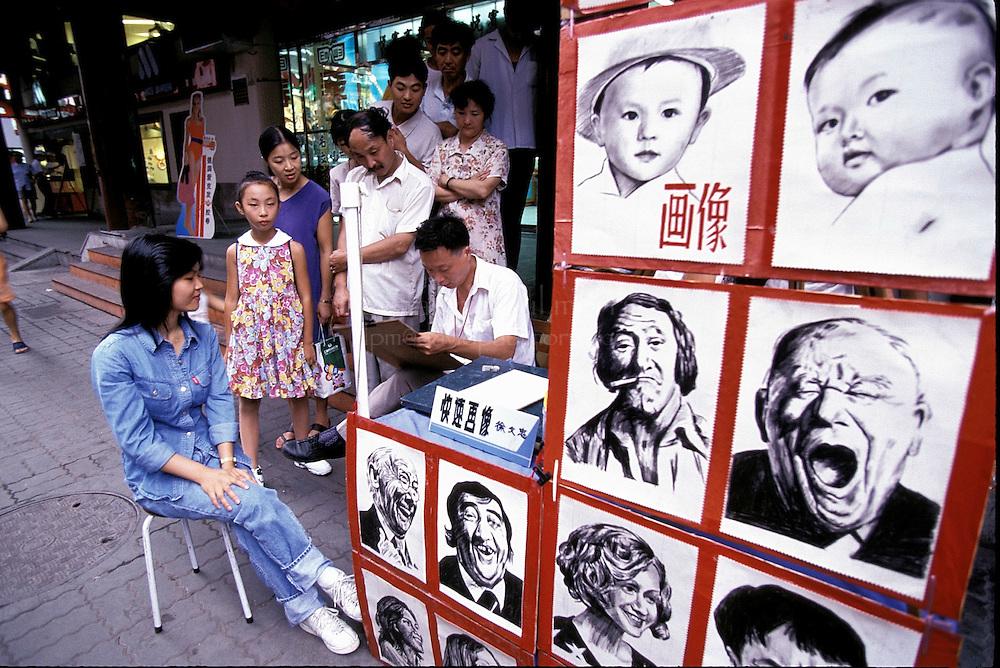 SHANGHAI, CHINA :  Artist in Shanghai, China. Photograph by David Paul Morris